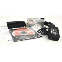 Kyocera Finecam SL400R gebrauchte Digitalkamera (4 Megapixel), silber