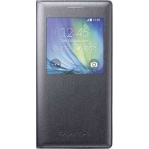 Original Samsung GALAXY A5 S View Cover Schutzhülle Kunstleder schwarz