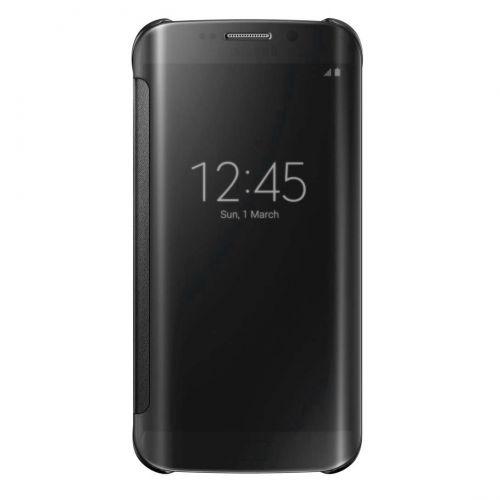 Original Samsung Galaxy S6 edge Clear View Cover Schutzhülle schwarz