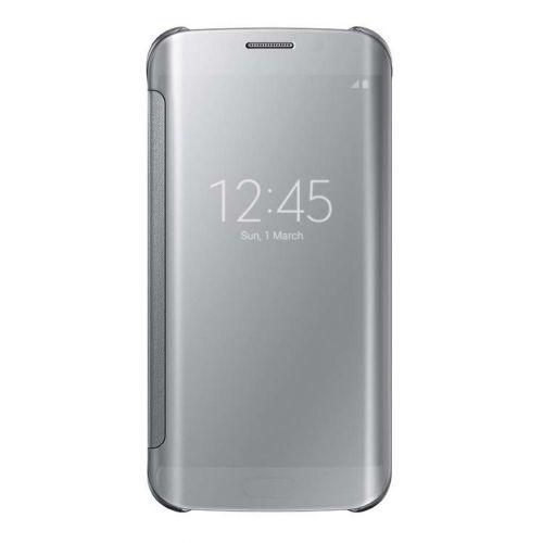 Original Samsung Galaxy S6 edge Clear View Cover Schutzhülle silber