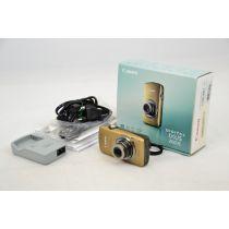 Canon Digital IXUS 200 IS Digitalkamera gebraucht OVP (12 MP, 7,6 cm (3 Zoll) TOUCH-Display, HDMI, 24mm Weitwinkel) braun