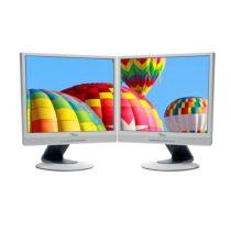 """Monitor Doppelpack 2x Fujitsu ScenicView P19-2 19"""" 5:4 Monitor B-Ware vergilbt"""