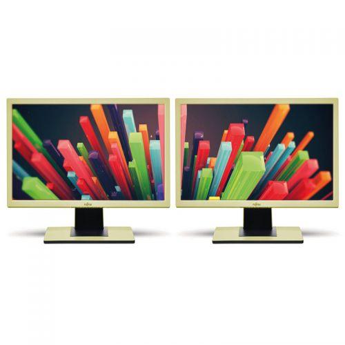 Doppelpack Bildschirm Fujitsu B22-5 zwei LCD Monitore HD+