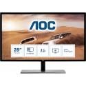 AOC 79 Series U2879VF (28 Zoll) 3840x2160px 4K Ultra HD LCD Schwarz, Silber