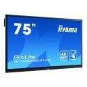 iiyama TE7502MIS-B1AG Interaktives Whiteboard 190.5 cm (75 Zoll) 3840x2160px Touchscreen Schwarz