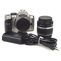 Canon EOS 300D SLR-Digitalkamera mit Objektiv (6,3 Megapixel) Farbe: silber