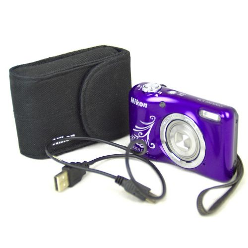 Nikon Coolpix L31 Digitalkamera gebraucht OVP (16 Megapixel, 5-fach opt. Zoom, 6,7 cm (2,6 Zoll) Display, HD-Video) Lila