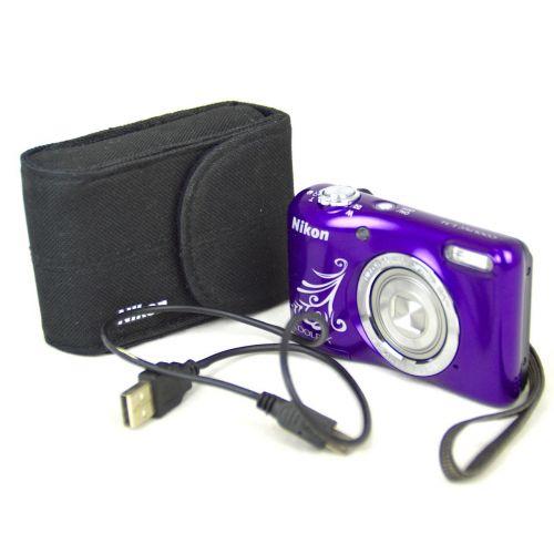 Nikon Coolpix L31 Digitalkamera gebraucht OVP (16 Megapixel, 5-fach opt. Zoom, 6,7 cm (2,6 Zoll) Display, HD-Video) Lila