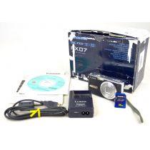 Panasonic DMC-FX07 gebraucht 4-fach Zoom schwarz 8 Megapixel mit OVP