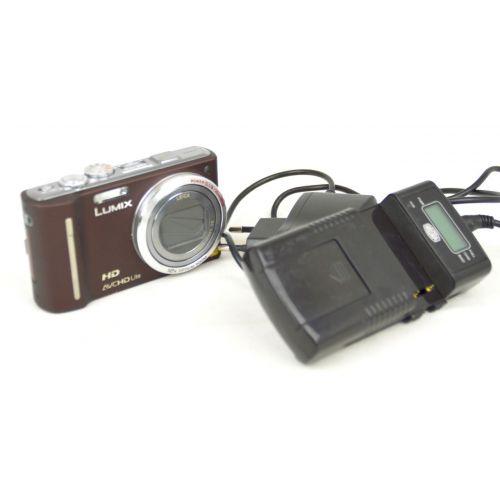 Panasonic Lumix DMC-TZ10 Digitalkamera gebraucht (12 Megapixel 12-fach opt. Zoom, 7,6 cm Display, Geo-Tagging) chocolate
