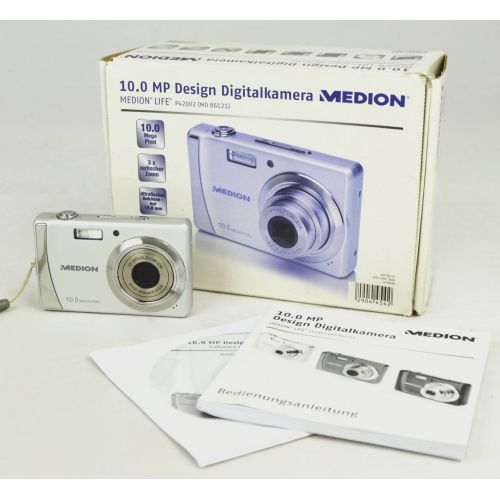 Medion Life P42002 (10 MP), lila Digitalkamera gebraucht