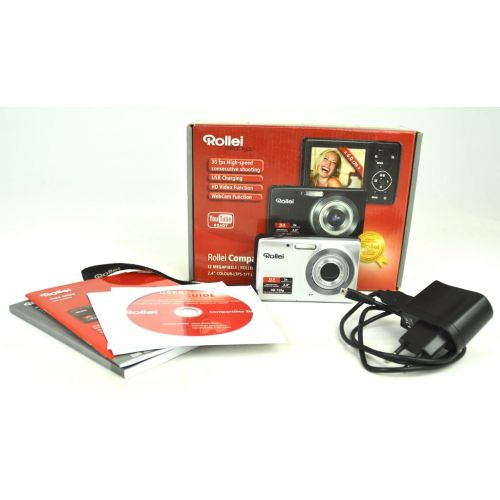 """Rollei Compactline 203 Digitalkamera gebraucht OVP (12 Megapixel, 3x opt. Zoom 2.4"""" Display)"""