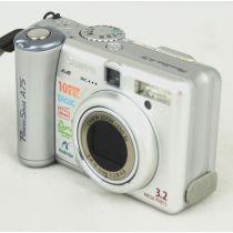 Canon PowerShot A75 DEFEKT (3,3 Megapixel), silber, gebrauchte Digitalkamera