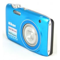 Nikon Coolpix S3100 Digitalkamera gebraucht OVP (14 Megapixel, 5-fach opt. Zoom, HD Video) blau