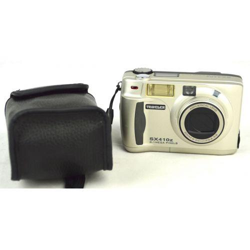 Traveler SX410z (4,1 Megapixel), gebrauchte Digitalkamera, silber