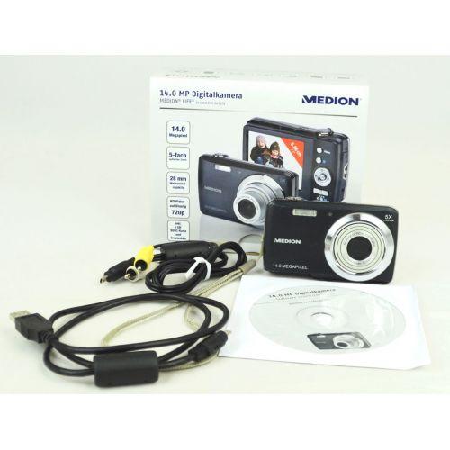 Median Life E43010 (MD 86525) OVP, gebrauchte Digitalkamera (14 Megapixel), schwarz