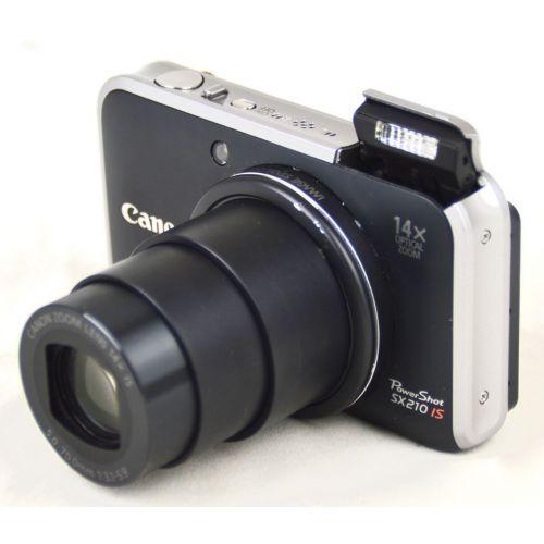 Canon PowerShot SX210 IS, gebrauchte Digitalkamera (14,1 Megapixel), schwarz