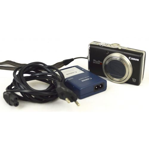 Canon PowerShot SX200 IS gebrauchte Digitalkamera (12 Megapixel, 12-fach opt. Zoom), schwarz
