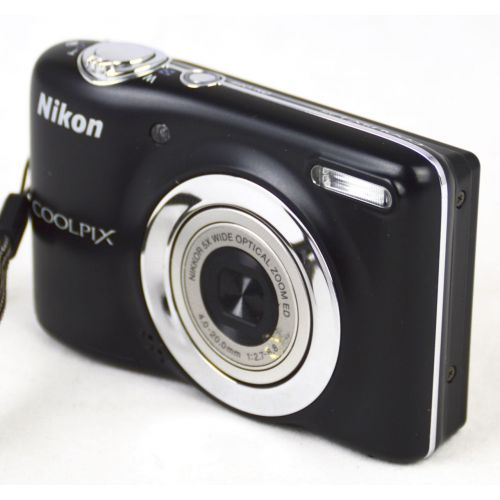 Nikon Coolpix L25 (10 Megapixel, 5-fach opt. Zoom, 7,5 cm (3 Zoll) Display) weiß