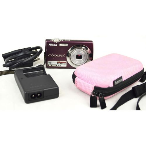 Nikon Coolpix S220 gebrauchte Digitalkamera DEFEKT (10 Megapixel), Farbe: lila