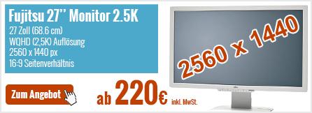 Fujitsu-27-Zoll-Monitor 2.5K ab 220€ gebraucht kaufen