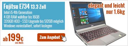 Fujitsu Lifebook E734 13.3 Zoll Core i5 gebraucht kaufen