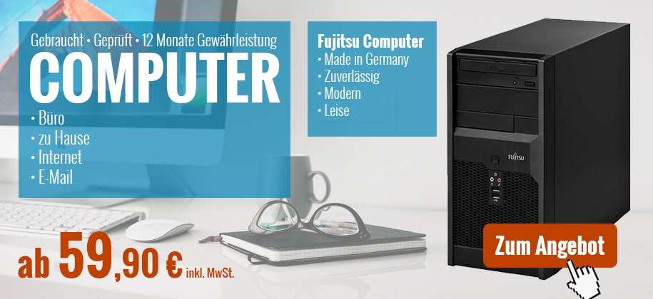 Computer und Desktop-PC gebraucht kaufen mit 1 Jahr Gewährleistung