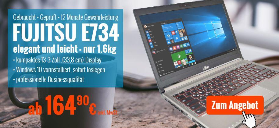 Fujitsu Lifebook E734 Laptop gebraucht günstig kaufen
