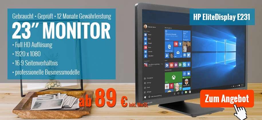 23 Zoll Monitor gebraucht mit Garantie günstig kaufen