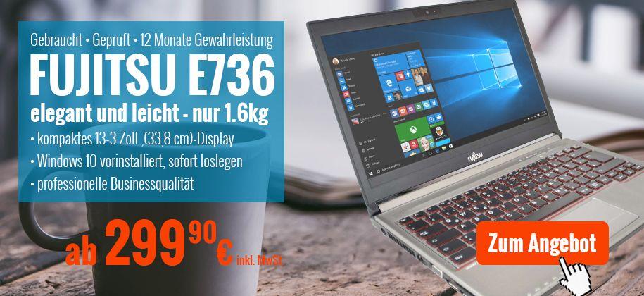 Fujitsu Lifebook E736 Laptop gebraucht günstig kaufen